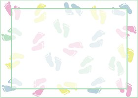 <h3>Baby Feet Invitation </h3>