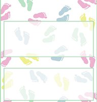 <h3>Baby Feet Candy Wrapper </h3>