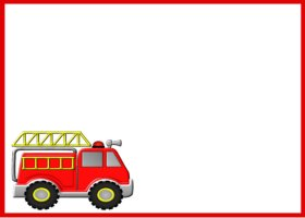 Free Printable Firetruck Card and Invitation
