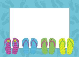 Free Printable Flip Flops Card And Invitation