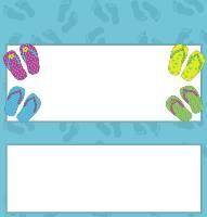 <h3>Flip Flops Candy Wrapper </h3>