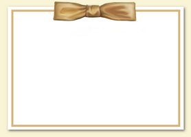 Free Gold Bow Invitation