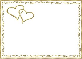 Free Gold Hearts Invitation