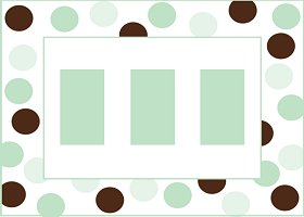 Free Printable Green & Brown Card And Invitation