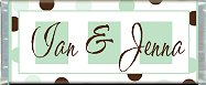 Free Printable Green & Brown Candy Bar Wrapper