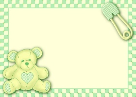 Free Printable Teddy Card and Invitation