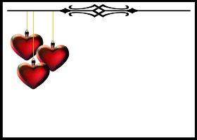 <h3>Heart Deco Invitation </h3>