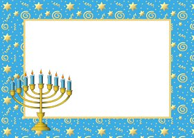 Free Printable Menorah Swirls Card And Invitation
