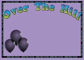 <h3>Over The Hill Invitation </h3>