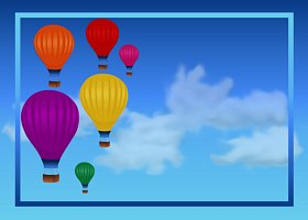 Free Printable Hot Air Balloons Card And Invitation