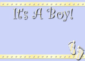 Free Printable It's A Boy Card And Invitation
