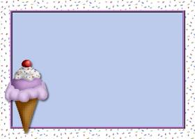 <h3>Ice Cream With Sprinkles Invitation </h3>