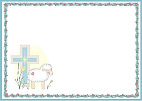 Free Printable Little Lamb Blue Card And Invitation