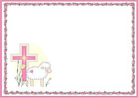 <b>Little Lamb Pink Invitation </b><br />