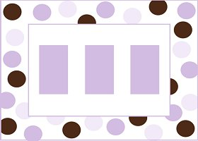 Free Printable Purple & Brown Card and Invitation