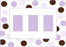<h3>Purple & Brown Invitation </h3>