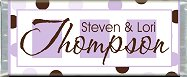 <h3>Purple & Brown Sample Candy Wrapper</h3>