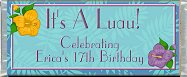 Free Printable Luau II Candy Bar Wrapper