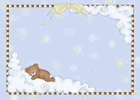 Free Printable Lullabye Bear Invitation