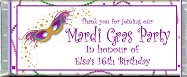 <h3>Mardi Gras Sample Candy Wrapper</h3>