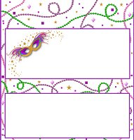 <h3>Mardi Gras Candy Wrapper </h3>