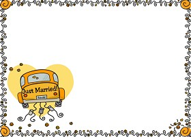 Free Printable Just Married Card And Invitation