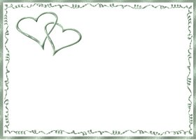Free Printable Mint Hearts Card And Invitation