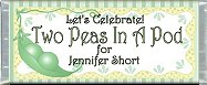 <h3>Two Peas In A Pod Sample Candy Wrapper</h3>