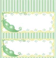 <h3>Two Peas In A Pod Candy Wrapper </h3>