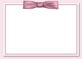 Free Printable Pink Bow Card And Invitation