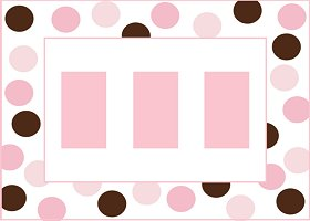 Free Printable Pink & Brown Card And Invitation