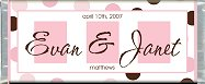 Free Printable Pink & Brown Candy Bar Wrapper