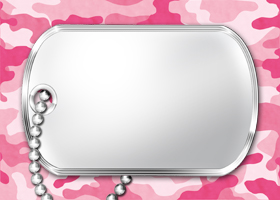 Free Printable Pink Camouflage Invitation