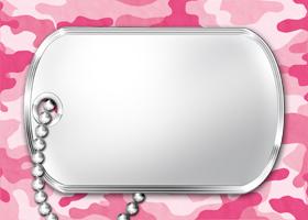 <h3>Pink Camouflage Invitation </h3>