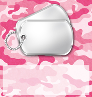 <h3>Pink Camouflage Candy Wrapper </h3>
