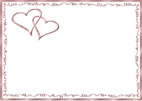 Free Printable Pink Hearts Card And Invitation