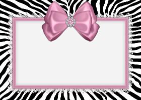 <h3>Pink Zebra Invitation </h3>