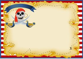 Free Printable Pirate Card and Invitation