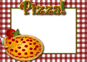Free Printable Pizza Party Card and Invitation