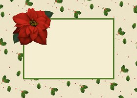 Free Printable Poinsettia Card And Invitation