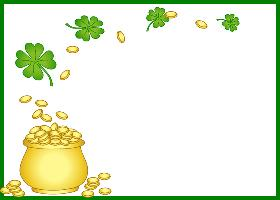 Free Printable Pot O' Gold Card And Invitation