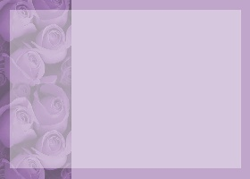 Free Printable Purple Rose Bouquet Invitation