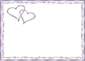 Free Printable Purple Hearts Card And Invitation
