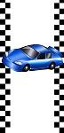 <h3>Race Car (blue) Mini Wrapper </h3>