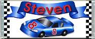 <h3>Race Car (blue) Sample Candy Wrapper</h3>