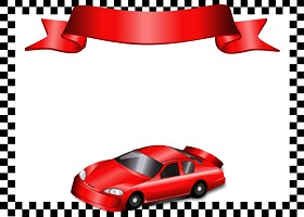 <h3>Race Car Invitation </h3>