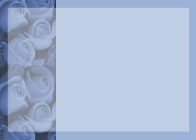 Free Printable Blue Profusion Invitation