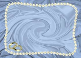 Free Printable Blue Satin and Pearls Invitation