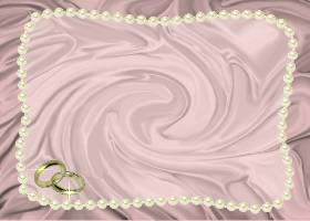 Free Printable Pink Satin and Pearls Card And Invitation