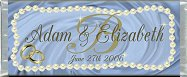 Free Printable Blue Satin and Pearls Candy Bar Wrapper